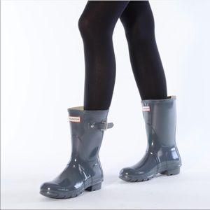 Hunter Original Graphite Short Rain Boot 9BM